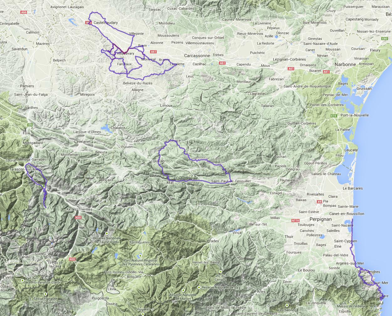 2014 France Cycling Heatmap